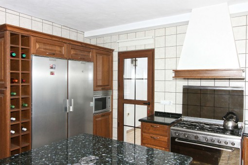 Kitchen with functional fridge