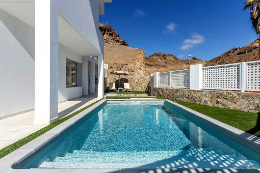 Private Pool with bordering terrace